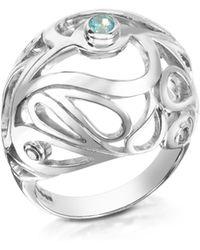 Sho London | Sterling Silver Mari Splash Boule Ring | Lyst