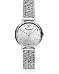 af4e74eaead Lyst - Emporio Armani  kappa  Quartz And Stainless-steel-plated ...