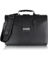 Giorgio Fedon - New Class Leather Briefcase W/shoulder Strap - Lyst