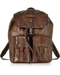The Bridge - Washed Calf Leather Backpack - Lyst