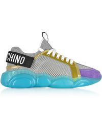 Moschino - Grey Suede Sneakers - Lyst