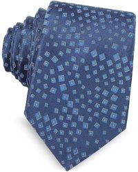 Lanvin - Geometric Pattern Woven Silk Tie - Lyst