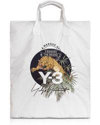 Y-3 - Core White Signature Print Tote Bag - Lyst