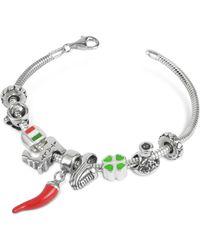 Tedora - Sterling Silver Italian Journey Bracelet - Lyst
