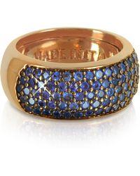 Azhar - Blue Cubic Zirconia Silver Vermeil Ring - Lyst
