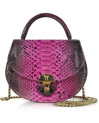 Ghibli - Python Leather Shoulder Bag W/chain - Lyst