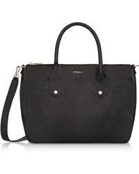 Furla - Onyx Saffiano Leather Mediterranea Medium Satchel Bag - Lyst