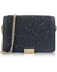 Michael Kors - Jade Black Crystals And Leather Clutch - Lyst