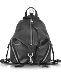 Rebecca Minkoff - Julian Black Leather Medium Backpack - Lyst