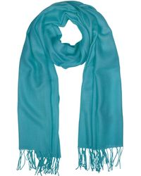 Mila Schon - Wool And Cashmere Fringed Stole - Lyst
