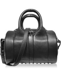 Alexander Wang - Rockie Black Pebbled Leather Satchel Bag - Lyst