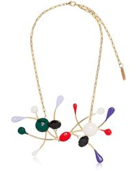 Marni - Necklace In Gold Metal With Colored Glass And Rhinestones - Lyst