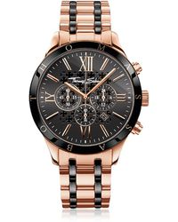 Thomas Sabo - Rebel Urban Rose Gold Stainless Steel And Black Ceramic Men's Chronograph Watch - Lyst