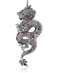 Thomas Sabo - Ciondolo Dragone Cinese in Argento 925 Smaltato - Lyst