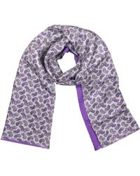 Forzieri | Paisley Print Silk Reversible Men's Scarf | Lyst