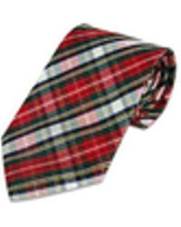 FORZIERI - Plaid Silk Tie - Lyst