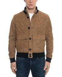 FORZIERI - Brown Suede Men's Bomber Jacket - Lyst