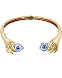 Bernard Delettrez - Brass Hand Necklace With Eye - Lyst