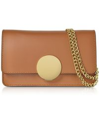 Le Parmentier - New Ondina Nano Leather And Suede Crossbody Clutch - Lyst