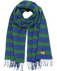KENZO - Stripy Wool Long Scarf - Lyst