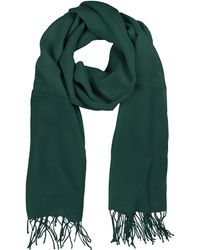 Mila Schon | Petrol Green Wool And Cashmere Stole | Lyst