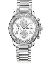 Thomas Sabo - Glam Chrono Silver Stainless Steel Women's Watch W/crystals - Lyst