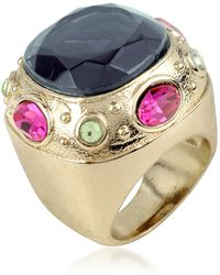 AZ Collection - Large Crystal Stone Ring - Lyst