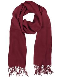 Mila Schon - Burgundy Wool And Cashmere Stole - Lyst