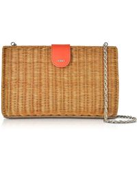 Rodo - Linen Leather And Wicker Midollina Shoulder Bag - Lyst