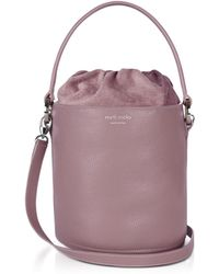 meli melo - Mauve Leather Santina Mini Bucket Bag - Lyst