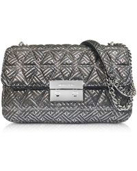 Michael Kors - Silver Quilted Leather Sloan Large Chain Shoulder Bag - Lyst