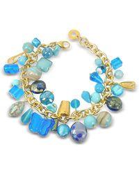 Antica Murrina - Women's Light Blue Metal Bracelet - Lyst
