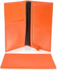 Giorgio Fedon - Classica Collection - Orange Calfskin Travel Document Case - Lyst