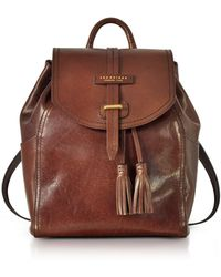 The Bridge - Florentin Brown Medium Backpack W/tassels - Lyst