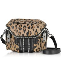 Alexander Wang - Leopard Printed Suede Micro Marti Shoulder Bag - Lyst