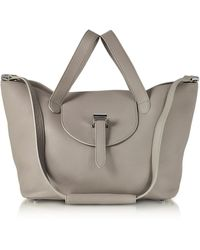 meli melo - Taupe Coimbra Leather Thela Medium Tote Bag - Lyst