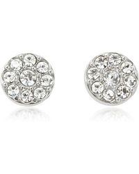 Fossil - Vintage Glitz Silvertone Women's Earrings - Lyst