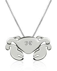 FORZIERI - Diamond 18k Gold Crab Pendant Necklace - Lyst