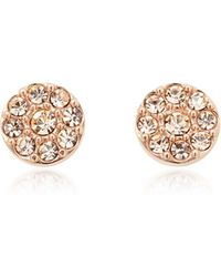 Fossil - Vintage Glitz Rose Tone Women's Earrings - Lyst