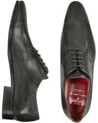 Fratelli Borgioli - Handmade Black Italian Leather Wingtip Dress Shoes - Lyst