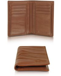 Gherardini - Pleated Leather Men's Vertical Wallet - Lyst
