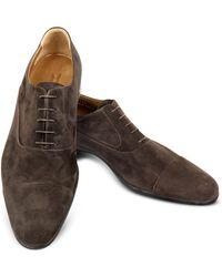 Moreschi Dublin Dark Brown Suede Cap Toe Oxford Shoes Lyst