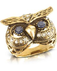 Alcozer & J - Owl Brass Ring - Lyst