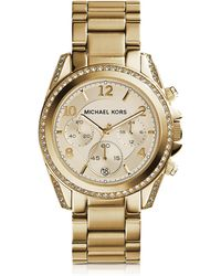Michael Kors - Blair Gold Tone Stainless Steel Women's Watch - Lyst