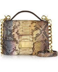 Ghibli - Brown Paillette Python Leather Crossbody Bag - Lyst
