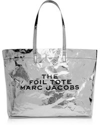 Marc Jacobs - The Foil Tote In Silver Mixed Materials - Lyst