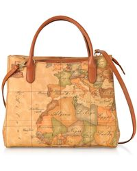 f69ec2147ce5b Alviero Martini 1A Classe - Geo Classic Coated Canvas Small Tote Bag - Lyst