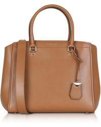 Michael Kors - Soft Polished Leather Benning Large Satchel Bag - Lyst