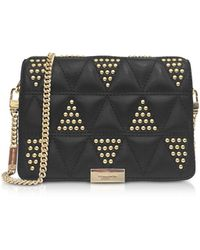 Michael Kors - Jade Studded Quilted-leather Clutch - Lyst