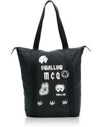 McQ - Sponsorship Black Nylon Shopper Bag W/ Badges - Lyst